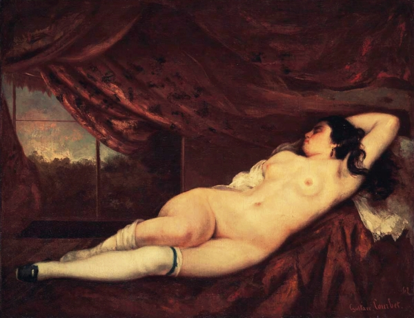 """""""Femme nue Couchée"""" by Gustave Courbet (1862)."""