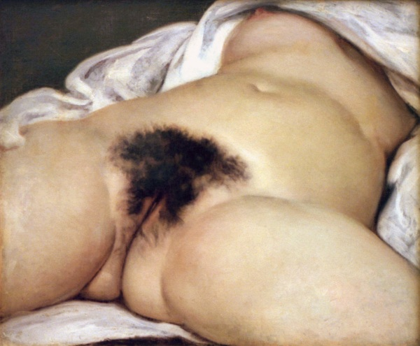 """Gustave Courbet's most controversial work, """"L'Origin du Monde"""" (1866). The painting was so controversial that it was not included in public exhibition until over a century later."""