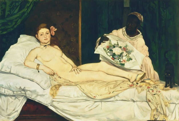 """""""Olympia"""" by Édouard Manet (1863)."""