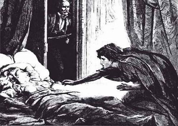 "Another illustration for ""Carmilla"", this one done by D.H. Friston"