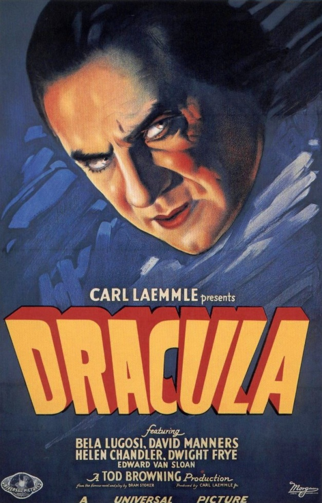 This iconic poster by Karoly Grosz for the 1931 Universal classic horror film features Béla Lugosi as Count Dracula