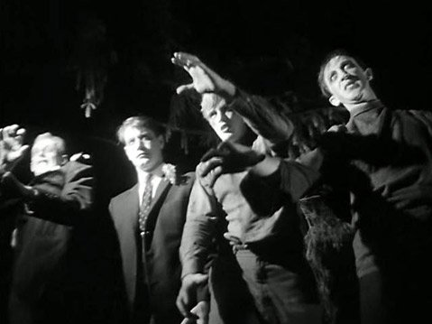 "The cannibalistic zombies from ""Night of the Living Dead"""