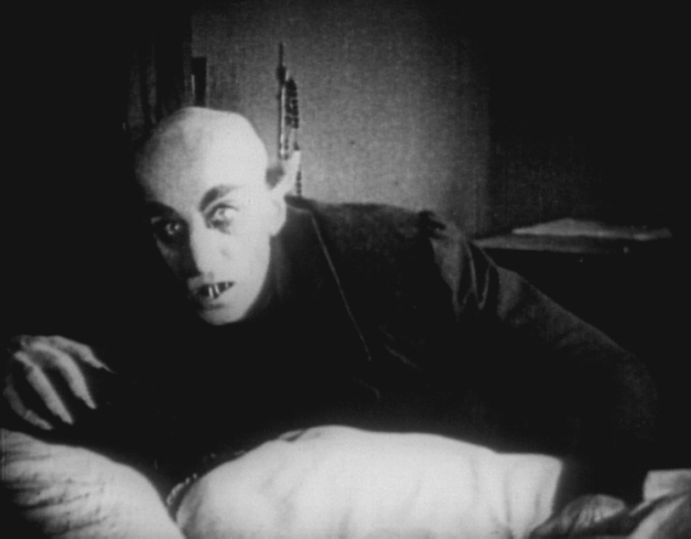 "The climactic scene from F.W. Murnau's 1922 silent masterpiece ""Nosferatu"""