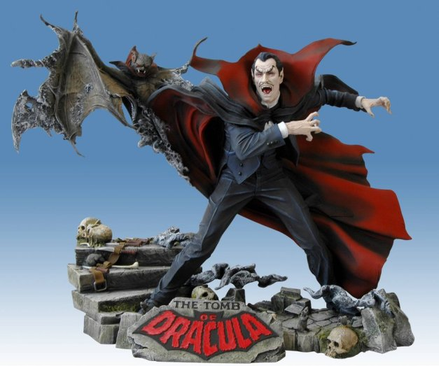 "A collectible model figurine inspired by Marvel Comics' ""The Tomb of Dracula"""