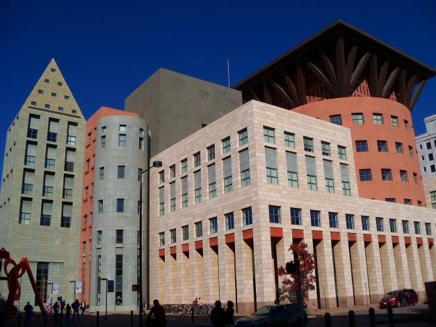 The Central Branch of the Denver Public Library. Photo taken on November 2, 2013.