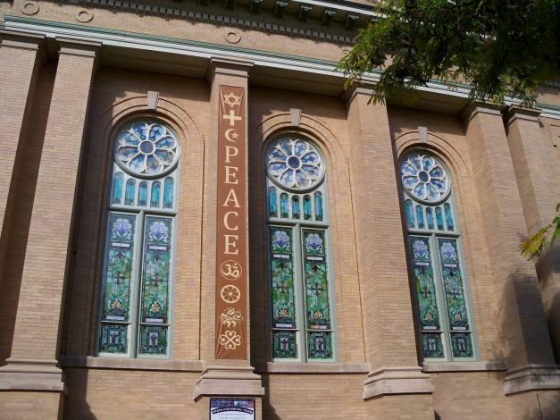 The exterior of Saint Paul United Methodist and Inter-Spiritual Community. Photo taken October 14, 2013.
