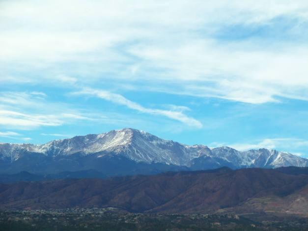 View of the Rocky Mountains. Photo taken at Colorado Springs on November 8, 2013.