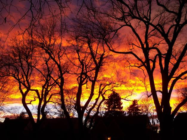 The gorgeous and fiery sunset. Photo taken on December 1, 2013.