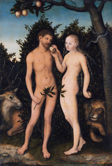 """Adam and Eve in Paradise"" by Lucas Cranach the Elder (1533)."