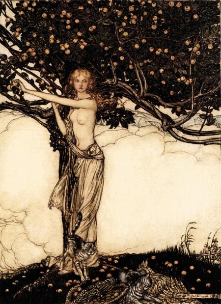 """""""Freia"""" by Arthur Rackham (1909)"""