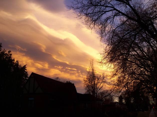 Sunset on January 3, 2014.