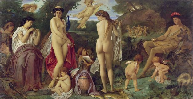 """The Judgement of Paris"" by Anselm Feuerbach (circa 1869-1870)."