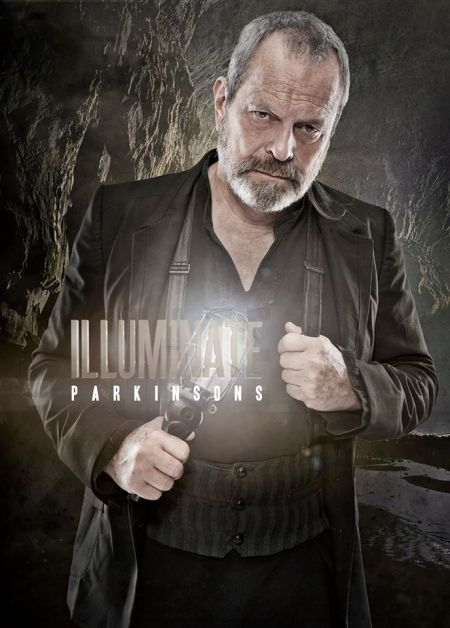 "Illuminate Parkinson's - Terry Gilliam (2012).  Allan's brilliant portrait of director Terry Gilliam, best known for his films ""Time Bandits"",""Brazil"", ""The Fisher King"" and ""12 Monkeys"".  The portrait was done to help raise awareness for Parkinson's."