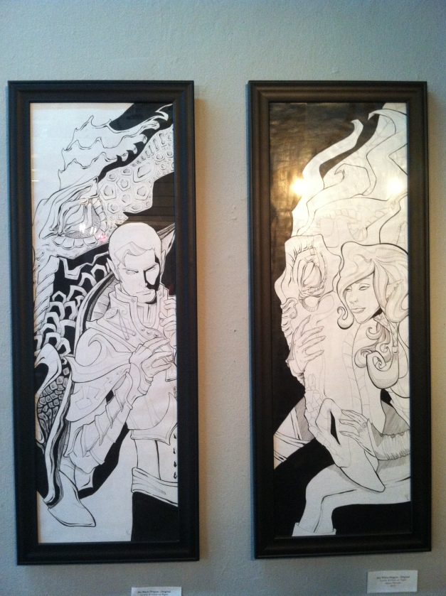 """His and Hers Dragons"" (2013) is a beautiful diptych that pays homage to Satine's love of all things fantasy."