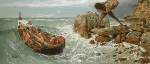 """""""Odysseus and Polyphemus"""" (1896)"""