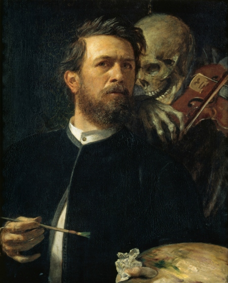 """Self-Portrait with Death Playing the Fiddle"" (1872)"