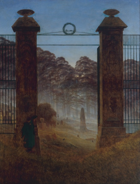 """Entrance to the Cemetery"" (1825)"
