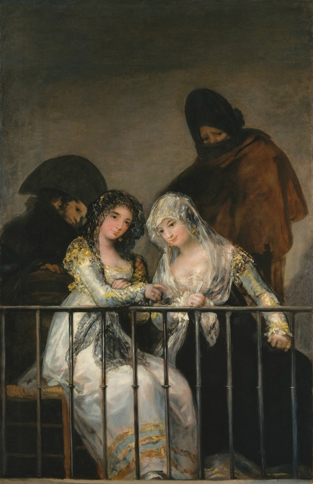 """Majas on a Balcony"" (circa 1800-1810)"