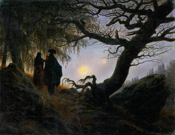 """Man and Woman Contemplating the Moon"" (circa 1824)"