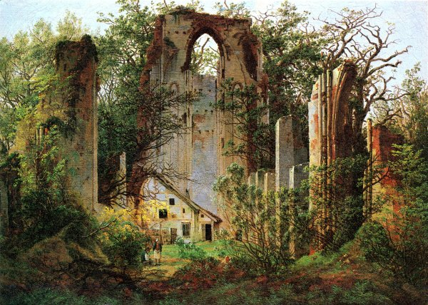"""Ruins of Eldena, near Greifswald""  (circa 1825)"