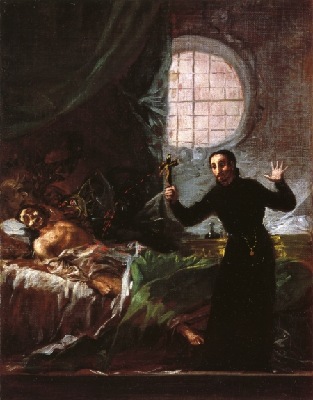 """Saint Francis of Borja Attending a Dying Man"" (1788)"
