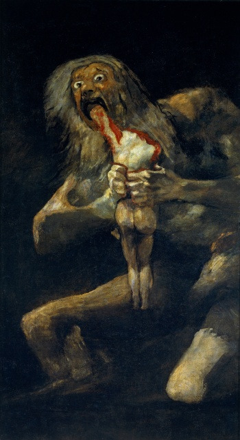"""Saturn Devouring His Son"" (1819-1823)"
