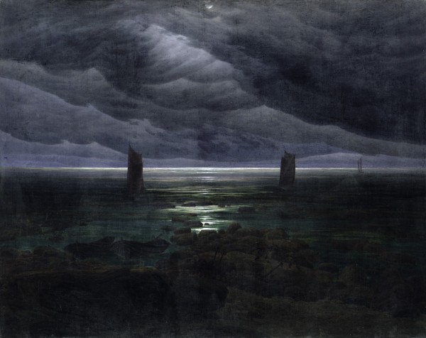 """Seashore in Moonlight"" (1835)"
