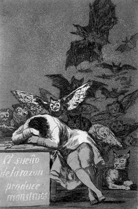"""The Sleep of Reason Produces Monsters (1797-1798)"