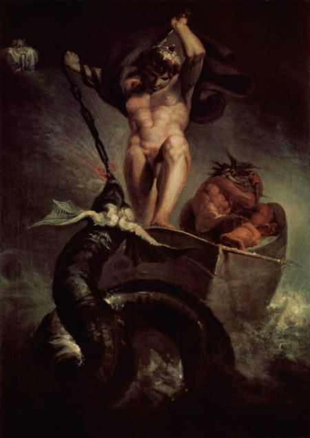 """Thor Battering the Midgard Serpent"" (circa 1790)"