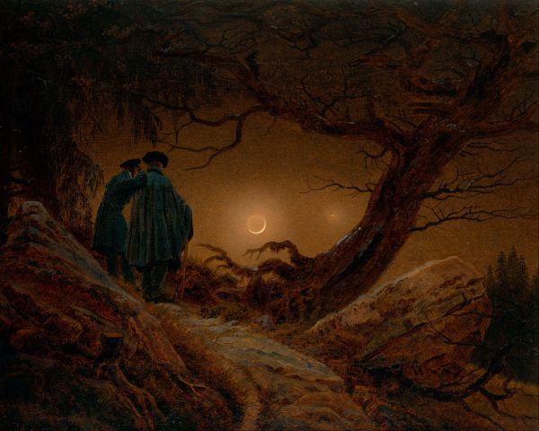 """Two Men Contemplating the Moon"" (1819-1820)"