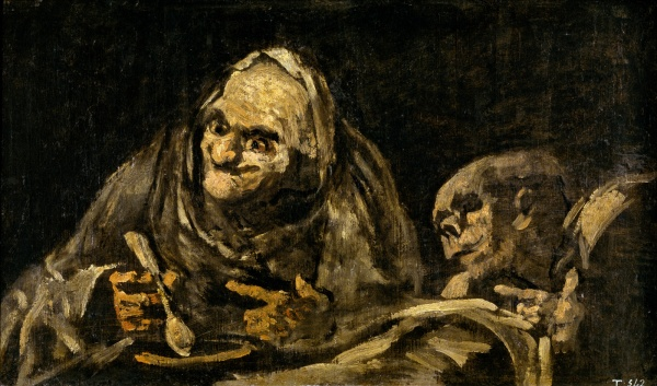 """Two Old Men Eating Soup"" (1819-1823)"