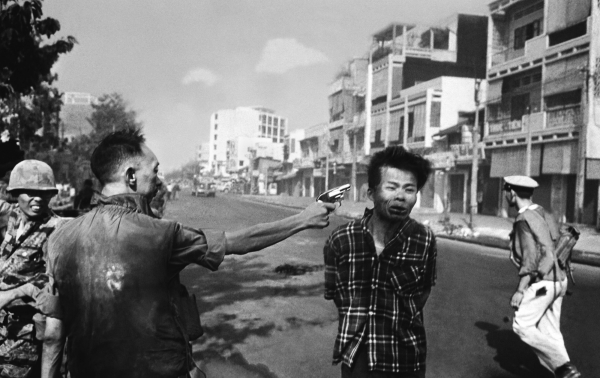 """General Nguyễn Ngọc Loan Executing a Viet Cong Prisoner in Saigon"" by Eddie Adams (1968)."